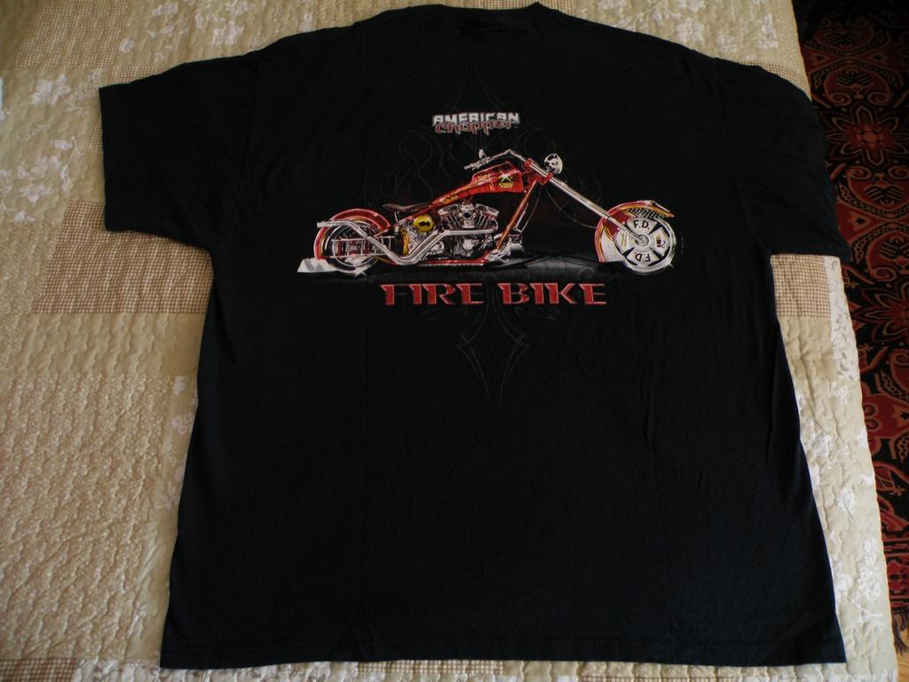 American Chopper Fire Bike мото тениска мотор чопър къстъм круизър