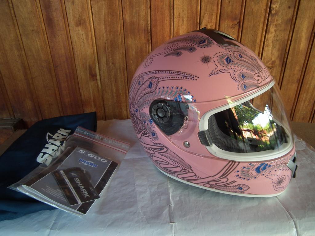 Shark S600 Folies шлем каска за мотор пистов розов.