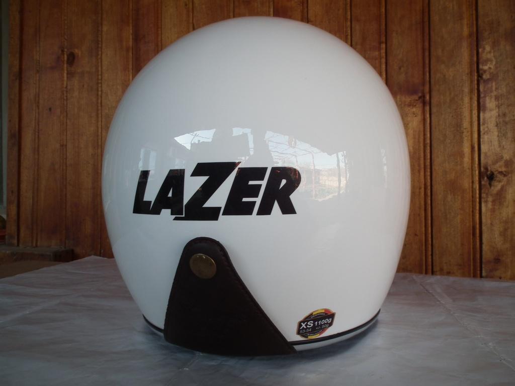 Lazer Mambo с тъмни очила шлем за мотор каска отворен скутерен скутер.