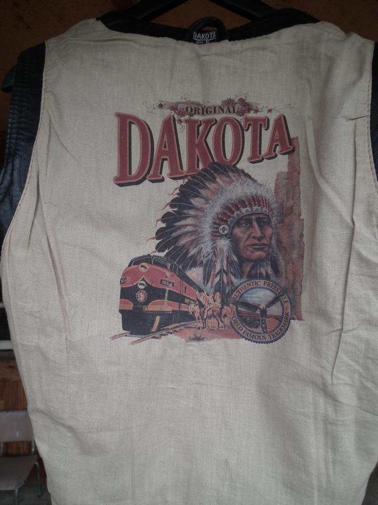 Dakota кожено елече жилетка за мотор чопър, круйзър, къстъм.